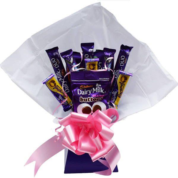 9333aac0e828 Cadburys Dairy Milk Chocolate Bouquet - Sweet Hamper - Perfect Gift ...
