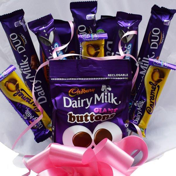 1ffa3b3bada4 Cadburys Dairy Milk Chocolate Bouquet – Sweet Hamper – Perfect Gift –  Chocolate ...