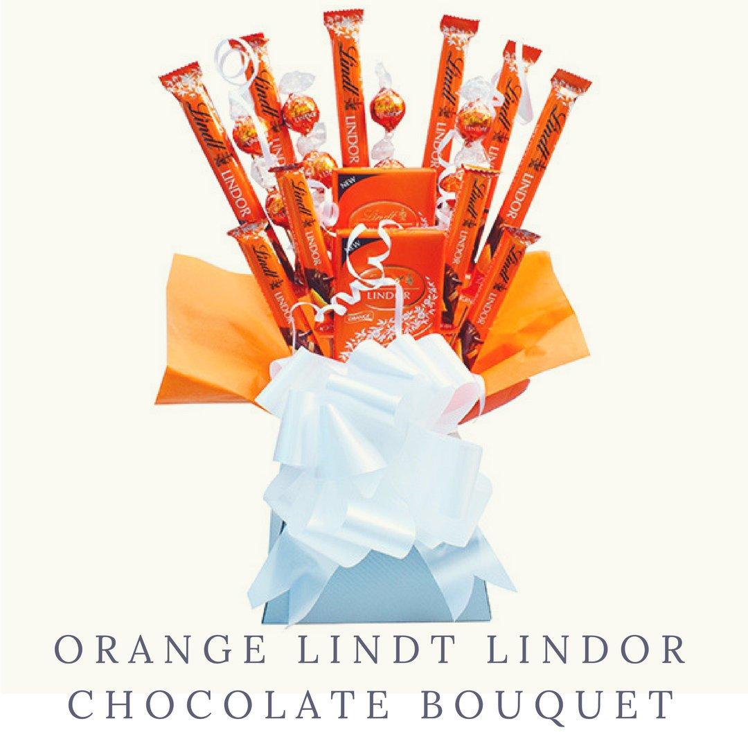 Orange ...  sc 1 st  The Chocolate Bouquet Boutique & Orange Lindt Lindor Chocolate Bouquet - Perfect Birthday Anniversary ...