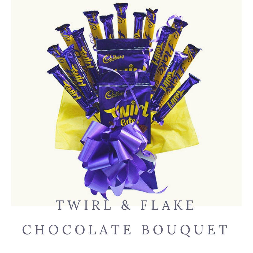 3ecc13870e28 Twirl Flake Chocolate Bouquet - Perfect Kids Birthday Anniversary ...