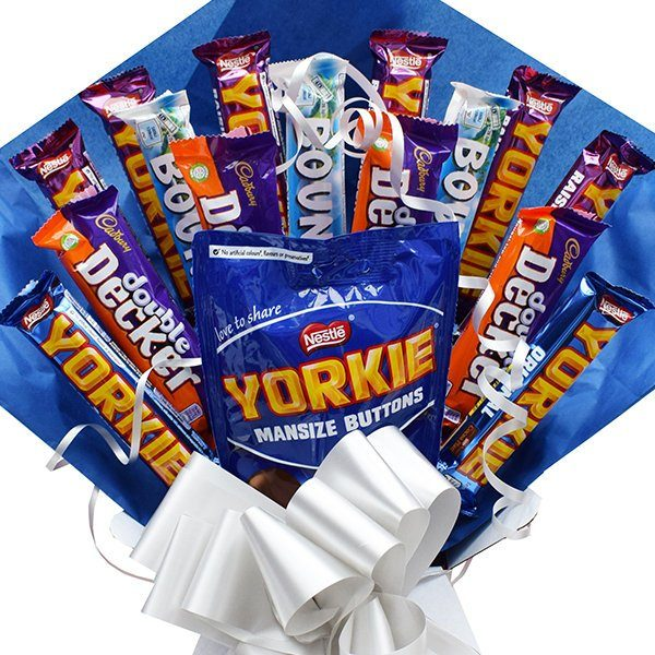 Yorkie Chocolate Bouquet Double Decker Bounty Fathers Day Gift