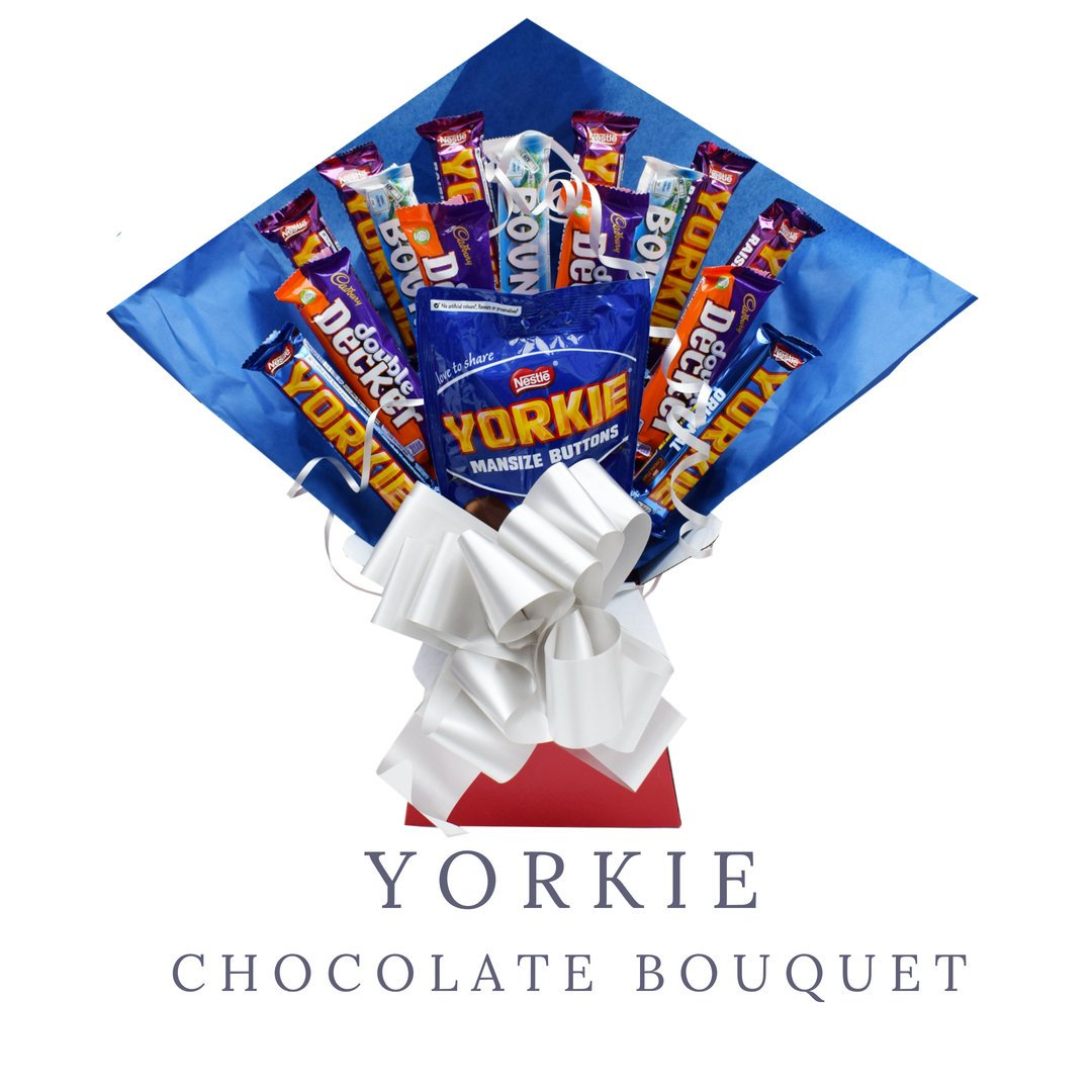 Yorkie Chocolate Bouquet – Double Decker – Bounty – Fathers Day Gift – Gifts for Dad ...